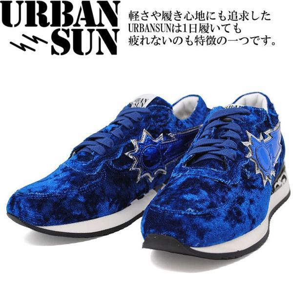【URBAN SUN】アーバンサン LAURE 137 ラウレ ベロア ローカットスニーカー シューズ レディース