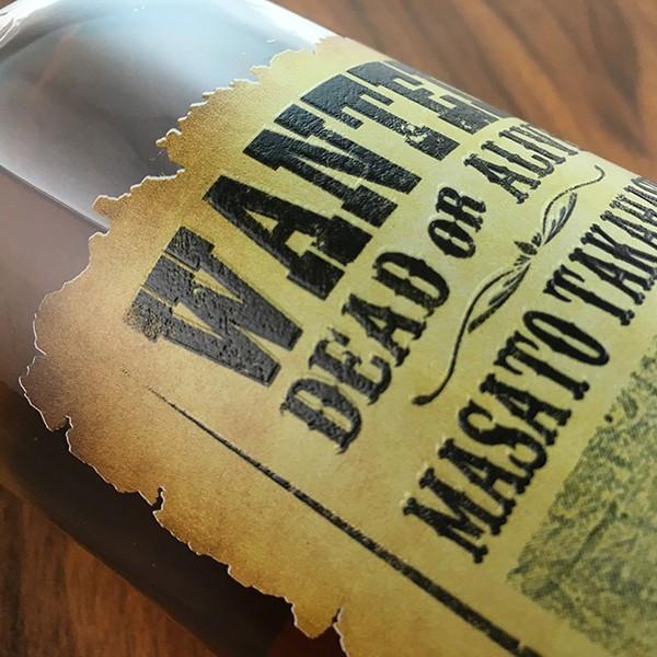 敬老の日 名入れ ギフト プレゼント ウイスキー whisky ドッグタグ付き ジョン ハミルトン 好きな写真で作れる指名手配書 WANTED プリントボトル 700ml|d-craft|04