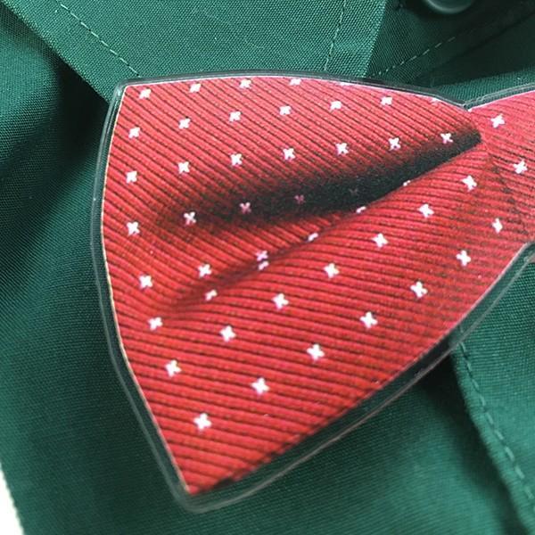 父の日 おしゃれ Yシャツにもつけられる蝶ネクタイクリップ アクリル製 2種 5色 蝶タイ メモ マネー クリップ d-craft 04