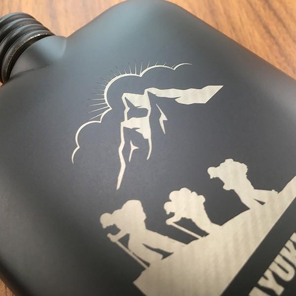名入れ プレゼント ギフト ステンレス製 絵柄が選べる 名入れスキットル ブラック 6oz (約177ml) 漏斗付き フラスク ヒップボトル|d-craft|04