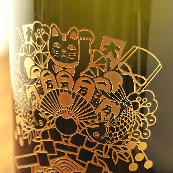 名入れ彫刻 黒霧島 益々繁盛 オリジナル熊手デザイン 名入れボトル 4500ml 焼酎 ギフト 感謝 ありがとう 誕生日|d-craft|04
