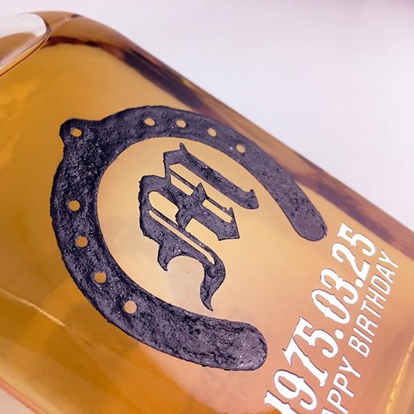 名入れ彫刻 ホワイトホース デザインが選べる蹄鉄イニシャルデザインボトル 200ml ウイスキー ギフト 感謝 ありがとう 誕生日 d-craft 03