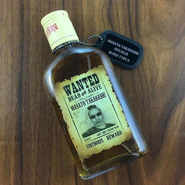 中元 名入れ ギフト プレゼント ウイスキー whisky ドッグタグ付き ホワイトホース 200ml 好きな写真で作れる指名手配書 WANTED プリントボトル|d-craft|02