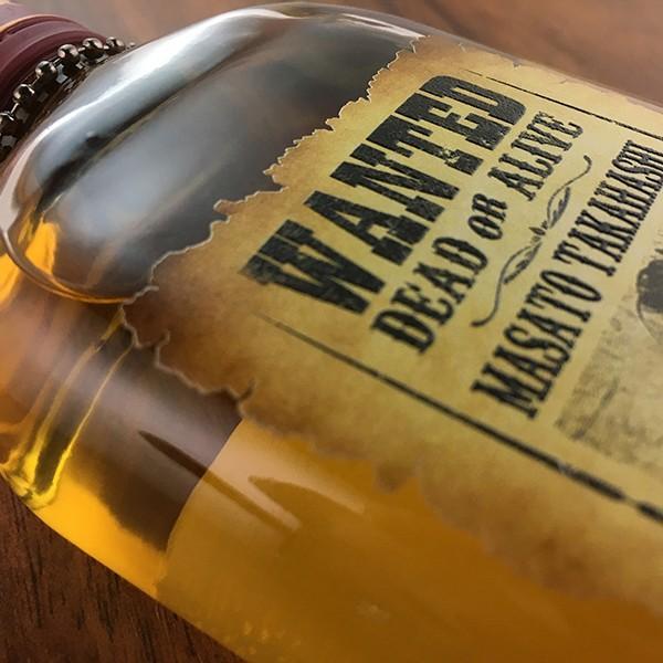 敬老の日 名入れ ギフト プレゼント ウイスキー whisky ドッグタグ付き デュワーズ ホワイトラベル 200ml 好きな写真で作れる指名手配書 WANTED プリントボトル|d-craft|04