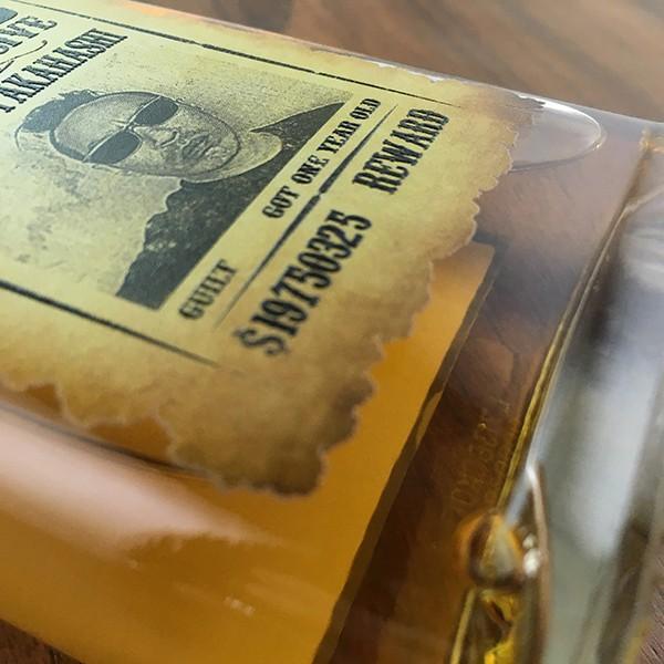 敬老の日 名入れ ギフト プレゼント ウイスキー whisky ドッグタグ付き デュワーズ ホワイトラベル 200ml 好きな写真で作れる指名手配書 WANTED プリントボトル|d-craft|05