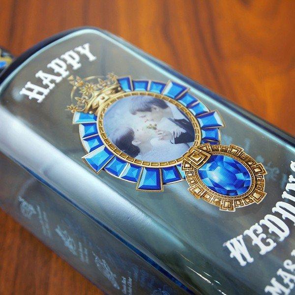 名入れ印刷 記念の写真をボトルに印刷!ボンベイサファイア 名入れ記念ボトル 750ml|d-craft|03