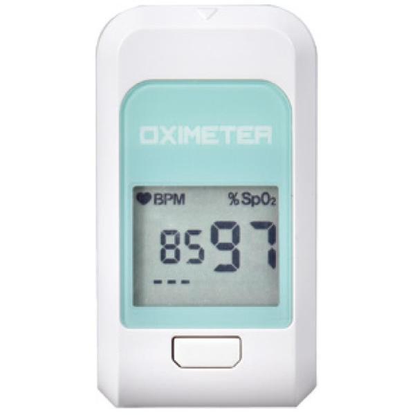 パルスオキシメーター 医療機器認証品 血中酸素濃度計  酸素濃度計 心拍計 脈拍計 POD-1 ホワイト×ミント