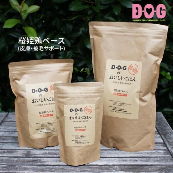 ドッグフード ランフリー 国産 D・O・Gのおいしいごはん 桜姫鶏ベース(皮膚・被毛サポート) 100g d-o-gshop