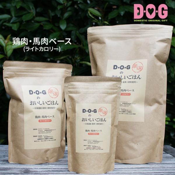 ドッグフード ランフリー 国産 D・O・Gのおいしいごはん 鶏肉・馬肉ベース(ライトカロリー) 100g d-o-gshop