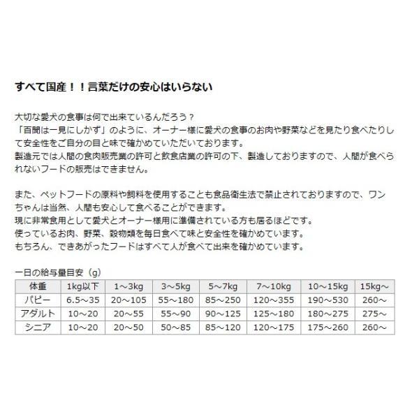 ドッグフード ランフリー 国産 D・O・Gのおいしいごはん 鶏肉・馬肉ベース(ライトカロリー) 100g d-o-gshop 03