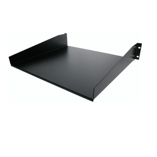 StarTech.com 標準ユニバーサル サーバーラックキャビネット用棚板/収納棚 ブラック 耐荷重20kg 冷延鋼板使用 CABSHELF