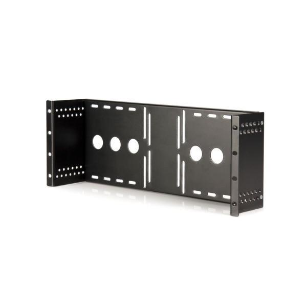 StarTech.com 19インチラック/キャビネット用VESAマウントアダプタ VESA規格LCDモニタ取付金具 ANSI/EIA RS310-D準拠 RKLCDBK