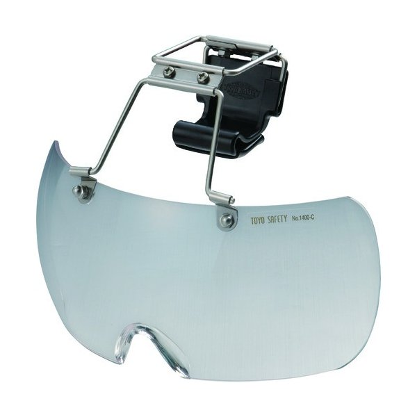 トーヨーセフティ 帽子取付け用防塵メガネ NO.1400C