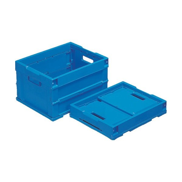 サンコー 折りたたみコンテナー 557390 オリコンP20B(2)青 SKOP20B2BL