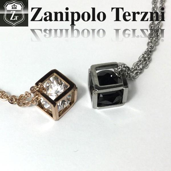 ペア ネックレス ステンレス/ネックレス/ブランド/ザニポロタルツィーニ/キューブ/Zanipolo Terzini/ザニポロ ztp3811 オープン記念 セール