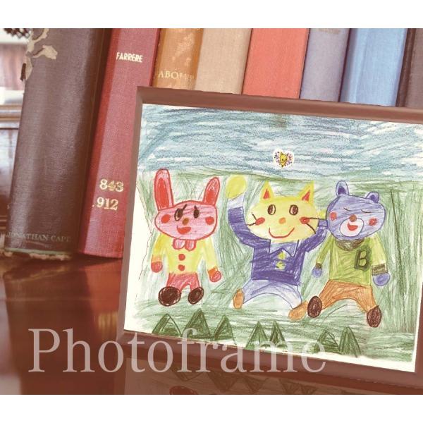 フォトフレーム 子供の絵で作る雑貨 子供の絵 アートデザイン オリジナルグッズ 子供誕生日プレゼント|d-pop-pro