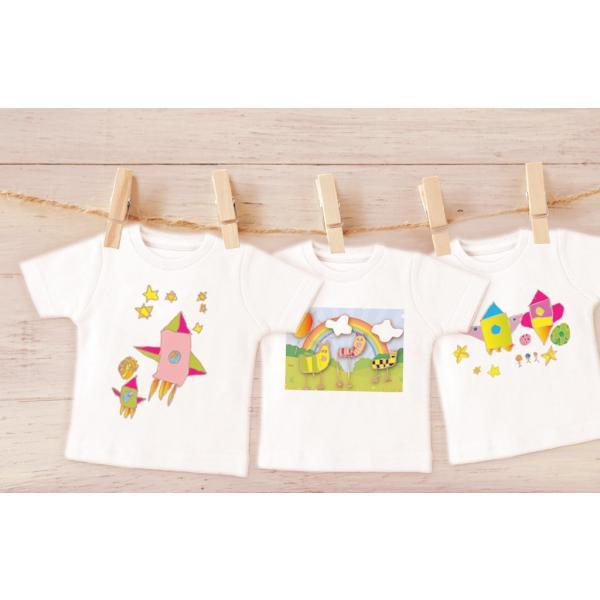ミニTシャツ 子供の絵で作る雑貨 ぬいぐるみ用Tシャツ アートデザイン オリジナルグッズ 子供誕生日プレゼント|d-pop-pro