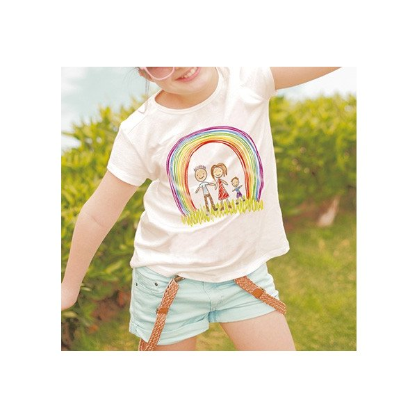 Tシャツ 片面 子供の絵で作る雑貨 子供の絵 アート デザイン オリジナルグッズ 子供誕生日プレゼント|d-pop-pro