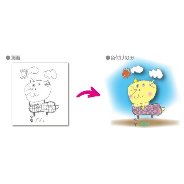 Tシャツ 片面 子供の絵で作る雑貨 子供の絵 アート デザイン オリジナルグッズ 子供誕生日プレゼント|d-pop-pro|04