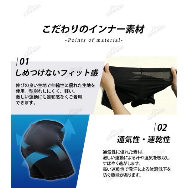 サイクルパンツ レーサーパンツ ロードバイク 吸汗力 速乾力 インナーウェア メール便  無地|dabada|10