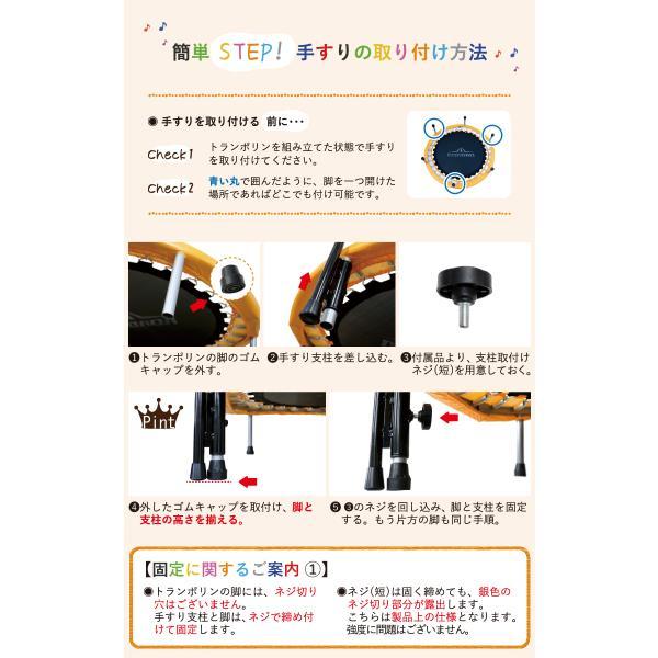 トランポリン フルセット ギフト 家庭用 本体102cm マット116×118cm 耐荷重110kg 有料ラッピング有 手すり付き|dabada|12