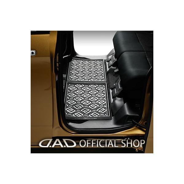 D.A.D ラバーマット for後部座席用(2列目/3列目) スクエアタイプ サイズM 1枚 4560318763371 GARSON ギャルソン DAD|dad
