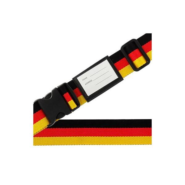 スーツケースベルト ワンタッチベルト 国旗柄 ドイツ 代引き不可 宅配便 メーカー直送(ギフト対応不可)