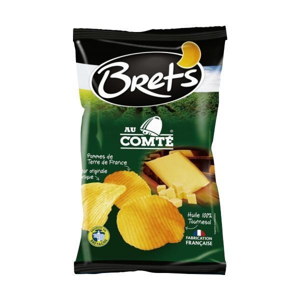 Brets(ブレッツ) ポテトチップス コンテチーズ 125g×10袋フランス おやつ お菓子 代引き不可 宅配便 メーカー直送(ギフト対応不可)