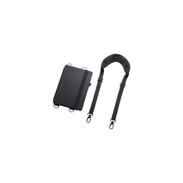 iPad 10.2インチ ショルダーベルト付きケース PDA-IPAD1611BK 宅配便 メーカー直送(ギフト対応不可)