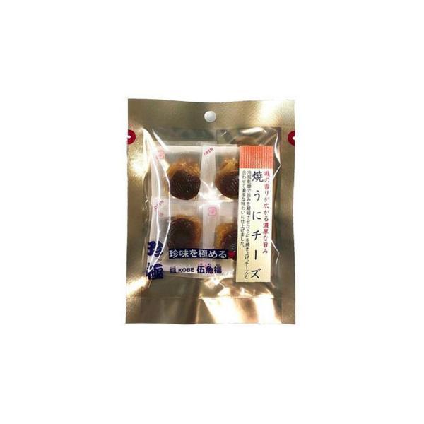 伍魚福 おつまみ 一杯の珍極プレミアム 焼うにチーズ 4個×10入り 81020 代引き不可 宅配便 メーカー直送(ギフト対応不可)