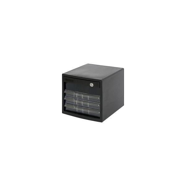 A4レターケース4段 (鍵付深1/浅3段) A4E-SK4B 宅配便 メーカー直送(ギフト対応不可)