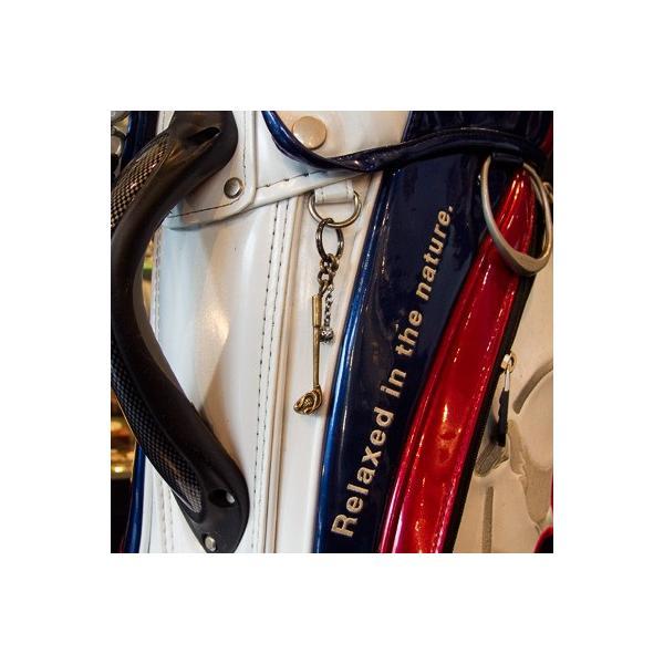 【クリックポスト便!送料無料※指定日・代引き不可】[dagdart GOLF][Penny Black] キーホルダー ドライバー ボール 真鍮×シルバー  DAgDART ダグダート MS-047|dagdart|03