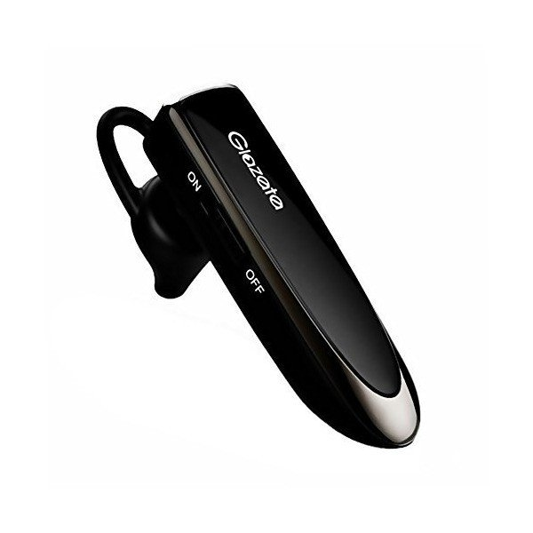Glazata Bluetooth ヘッドセット 日本語音声 超大容量バッテリー 30時間通話 技適マーク取得品 EC200 黒