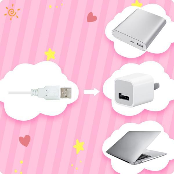 Aroma Season USB電熱式ホットアイマスク かわいいねこのデザイン 温度とタイマー調節可能 日本語の取扱説明書付き スリープエイド ギフ|dahlia-s|16