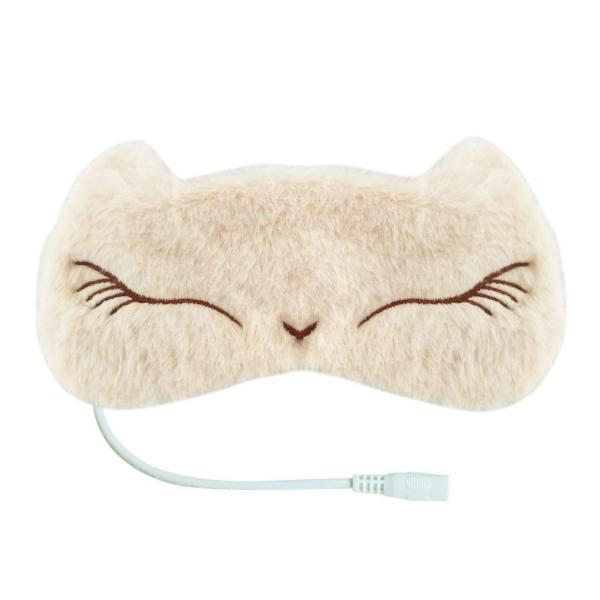 Aroma Season USB電熱式ホットアイマスク かわいいねこのデザイン 温度とタイマー調節可能 日本語の取扱説明書付き スリープエイド ギフ|dahlia-s|03