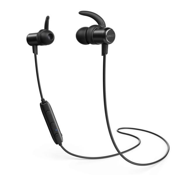Anker SoundBuds Slim Bluetoothイヤホン(カナル型)【マグネット機能 / 防水規格IPX4 /内蔵マイク搭載】 iPhone、Android各種対応 (ブラック)|dahlia-s