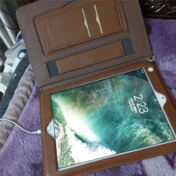 iPad Pro 10.5  レザーケース iPad Pro 9/7インチ 12.9インチ 手帳型 ストラップ付き 手持ちバンド ipad air air2 収納ケース|dai-arunmui|03