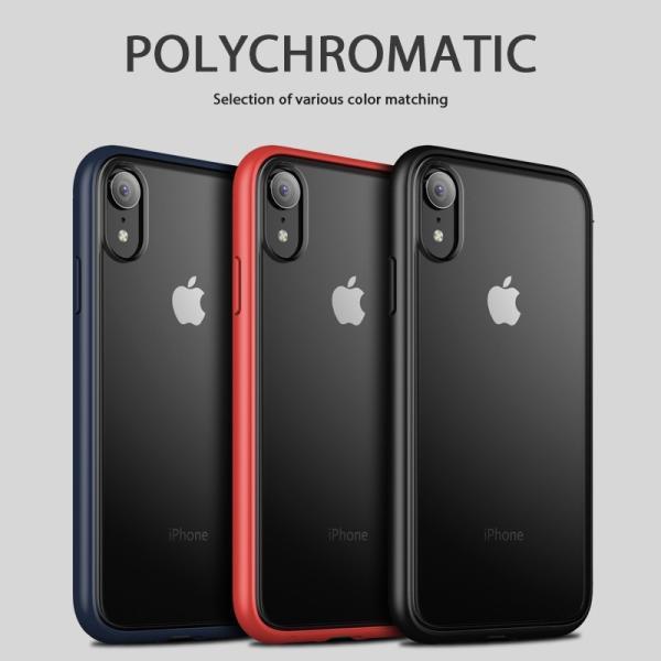 iPhoneXs iPhoneXR iPhoneXsMax ケース 透明背面プレート 耐衝撃TPU ...