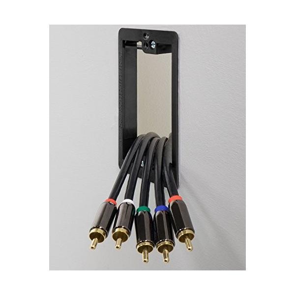 Fosmon (1ギャング) 低電圧マウンティングブラケット [ マウンティングスクリューを含む ] 電話ワイヤ、ネットワークケーブル、HDMI、コ