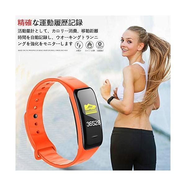 SHEN 最新版 スマートウォッチ 血圧計 心拍計 消費カロリー カラースクリーン 活動量計 歩数計 スマートブレスレット IP67防水 多機能スポ
