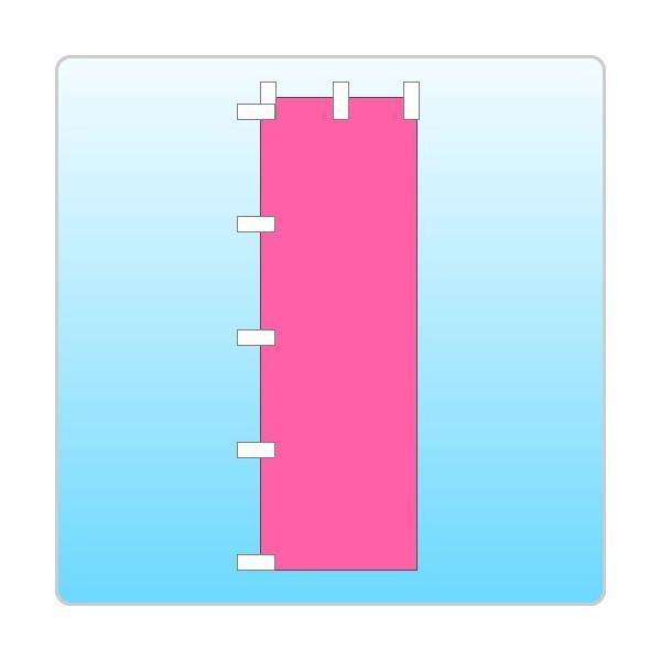 選挙のぼり「カラー文字無し」ピンク色 daiei-sangyo