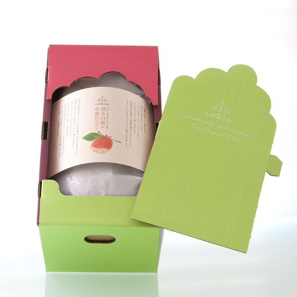 フルーツコンポート 清水白桃の水蜜仕立て 1200g×2個【ギフトボックス】|daiki-foods