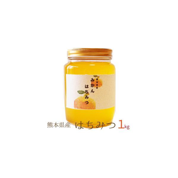 国産 はちみつ 1kg 熊本県産 非加熱 濃熟蜂蜜 国産 純粋はちみつ ミカン蜜 みかん蜜 瓶入り プレゼント ギフト