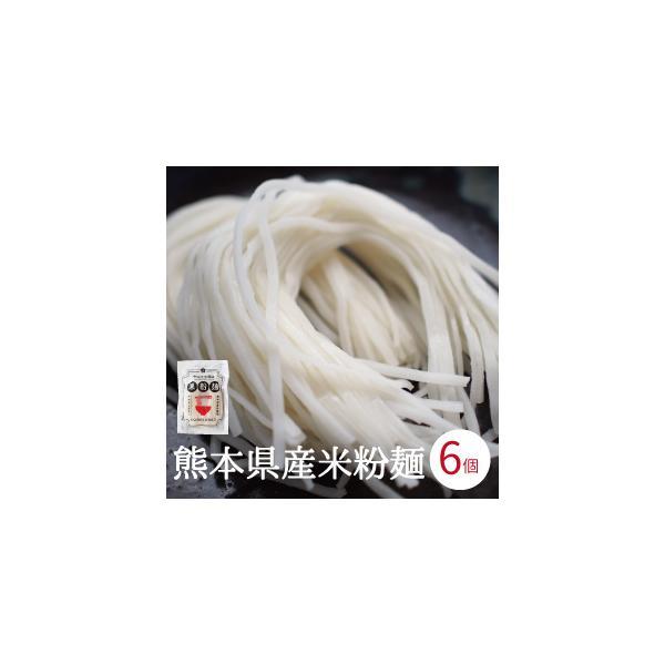米粉麺 グルテンフリー 6個入り 熊本県産 ヒノヒカリ 国産 米粉うどん パスタ 離乳食 フォー ライスヌードル