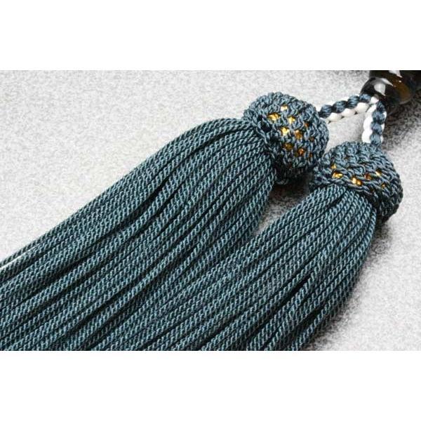 数珠 男性用 数珠袋付 青虎目石 22玉 共仕立:正絹頭房|daikokuya-b|04