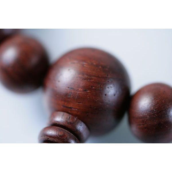数珠 男性用 数珠袋付 紫檀22玉赤虎目石(赤虎眼石/タイガーアイ)天:正絹頭房|daikokuya-b|04
