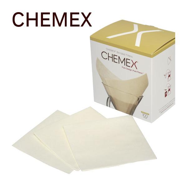 CHEMEX(ケメックス) 6カップ用 コーヒーメーカー フィルターペーパー (漂白タイプ) 四角タイプ 100枚入り