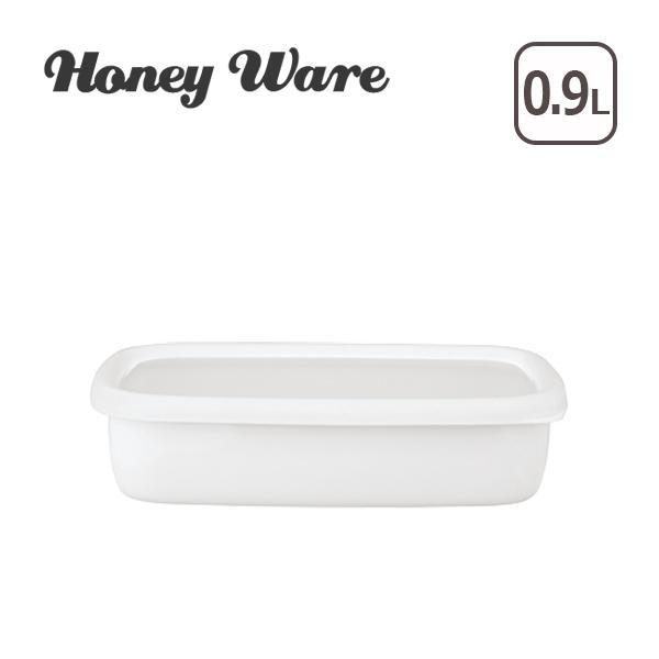 Honey Ware(ハニーウェア)Konte 浅型角容器 M リリーホワイト daily-3