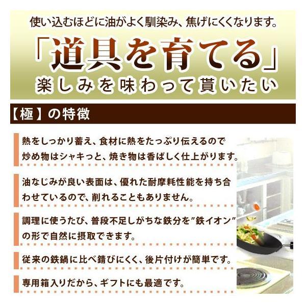 リバーライト極(きわめ) 鉄 フライパン 24cm ささら付き|daily-3|03