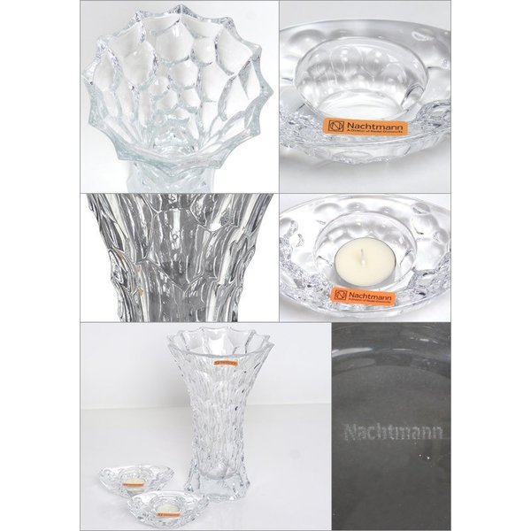 Nachtmann(ナハトマン) スフィア 99676 バリューパック (ベース 28cm x1 + キャンドルホルダー x2)花瓶|daily-3|02